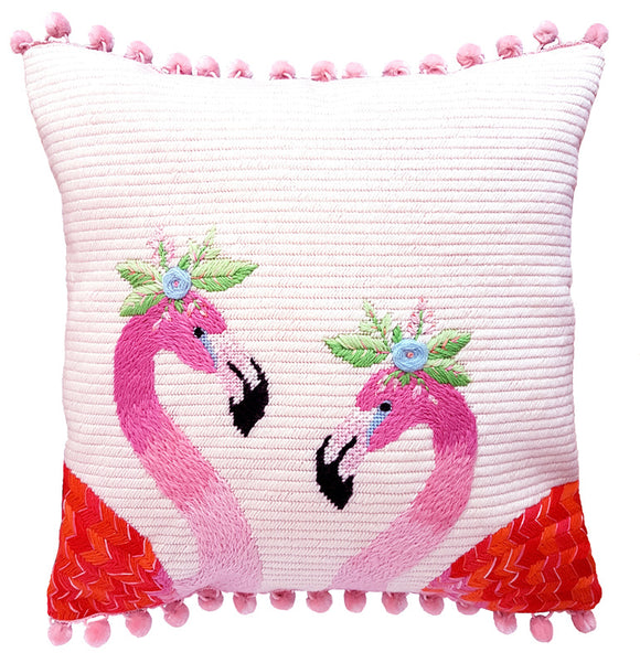 Tapestry Cushion kit - Flamingos