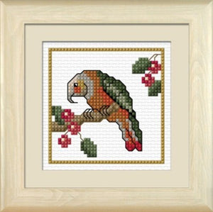 Cross-stitch kit - Kaka, the Bush Parrot
