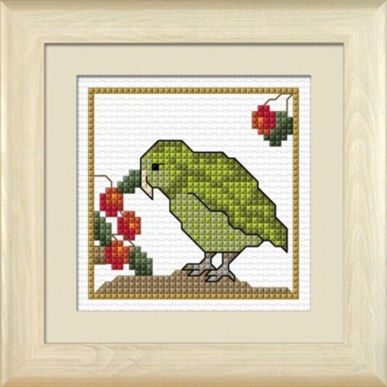 Cross-stitch kit - Kakapo, the Ground Owl