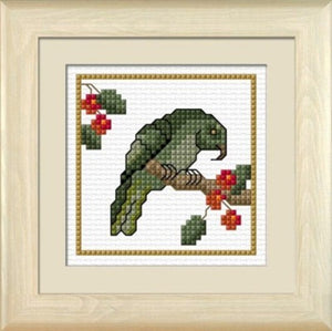 Cross-stitch kit - Kea, the Mountain Parrot