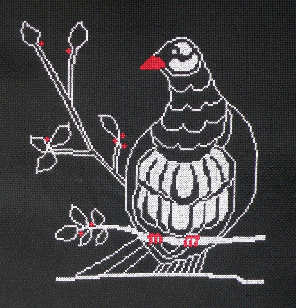 Cross-stitch chart - Kereru