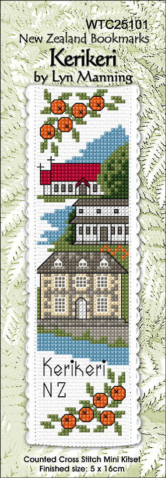 Cross-stitch bookmark - Kerikeri