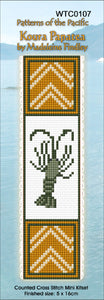Cross-stitch bookmark - Koura Papatea