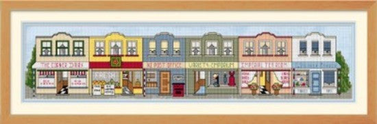 Cross-stitch kit - Kiwi Town - Main Street Shops