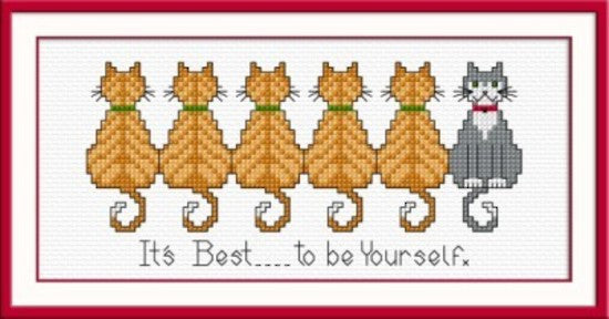 Cross-stitch kit - Moggies