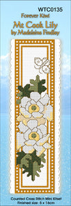 Cross-stitch bookmark - Mt Cook Lilly
