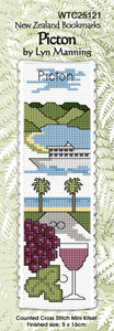 Cross-stitch bookmark - Picton