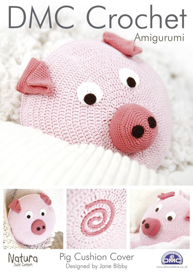 DMC Crochet Pattern - Amigurumi Pig Cushion