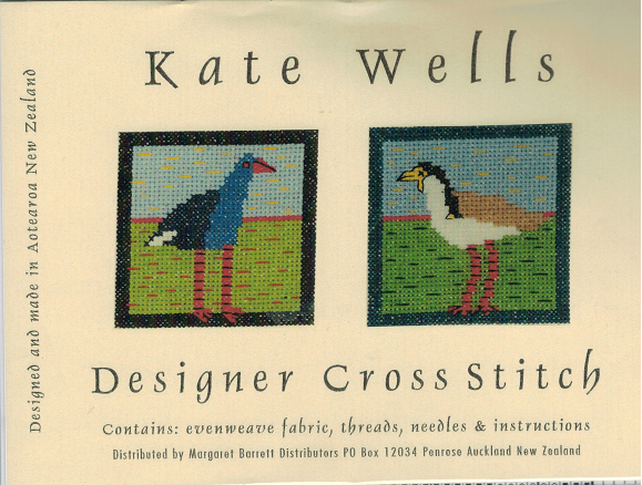 Cross-stitch kit - Pukeko & Spur-wing Plover