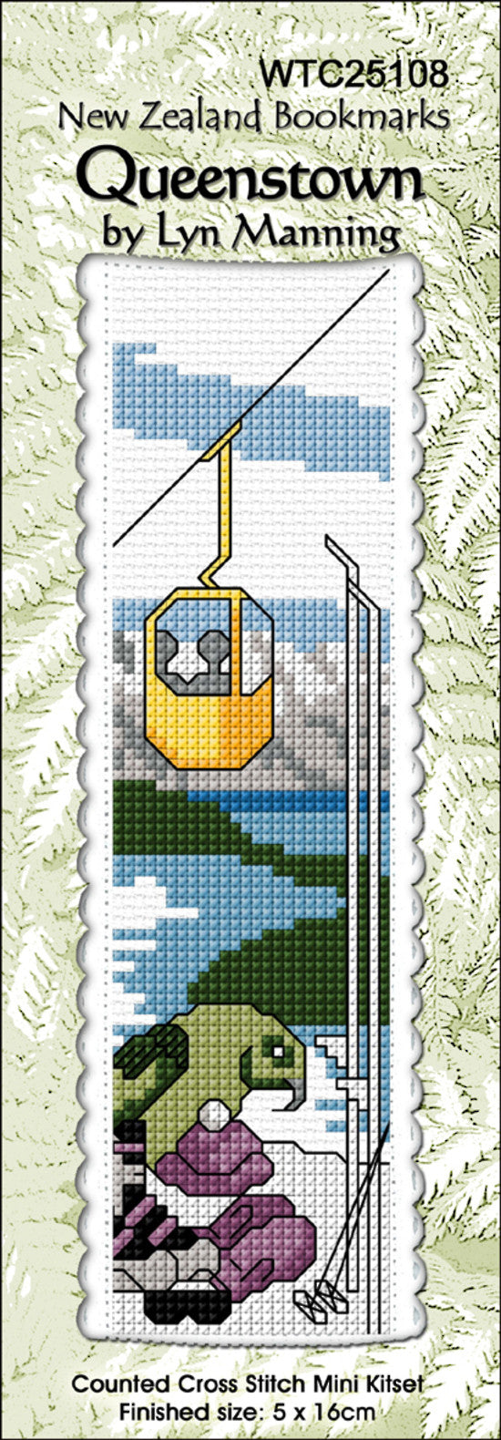 Cross-stitch bookmark - Queenstown