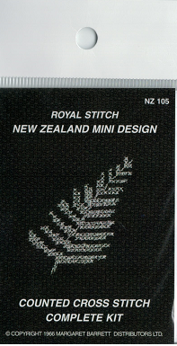 Cross-stitch kit - Silver Fern