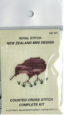 Cross-stitch kit - Brown Kiwi