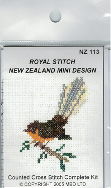 Cross-stitch kit - Fantail