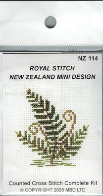 Cross-stitch kit - Fern