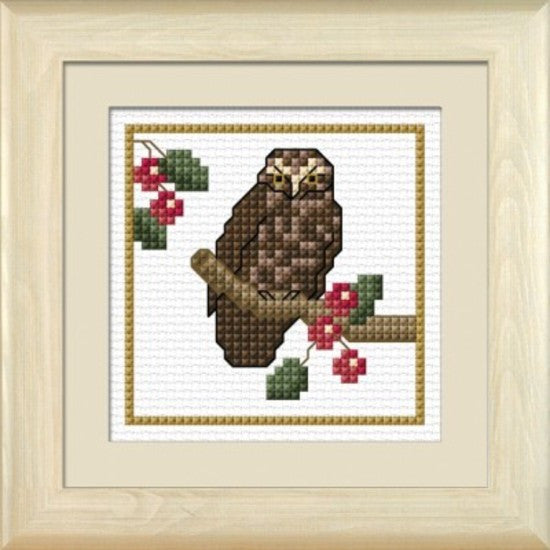 Cross-stitch kit - Ruru, the Morepork