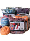 Silk Merino Scarf Felting Kit - Sunset