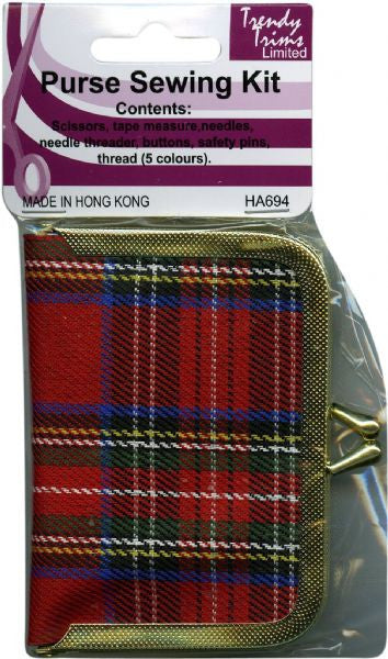 Emergency Sewing Kit - pocket sized plaid
