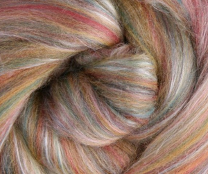 Silk Merino Sliver Fibre - Cinnamon colour