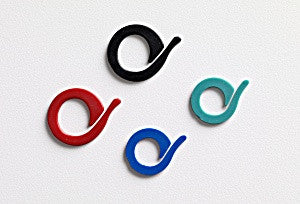 CraftCo Stitch Markers - Red, green, black and blue