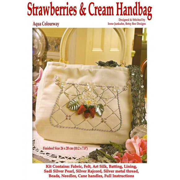 Needlework kit - Strawberries & Cream Handbag