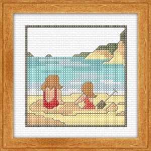 Cross-stitch kit - Summer at the Beach
