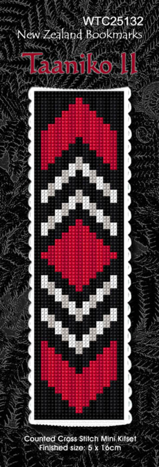Cross-stitch bookmark - Taaniko 2