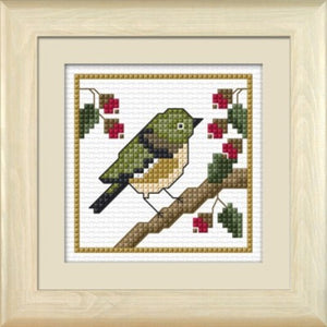Cross-stitch kit - Tauhou, the Waxeye