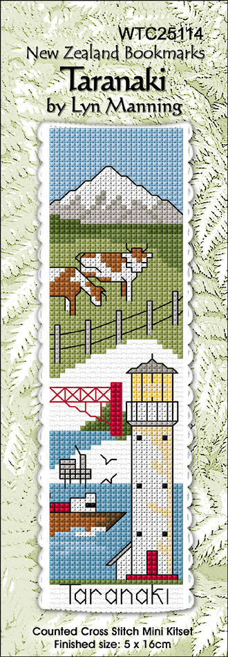 Cross-stitch bookmark - Taranaki