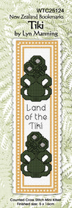 Cross-stitch bookmark - Tiki