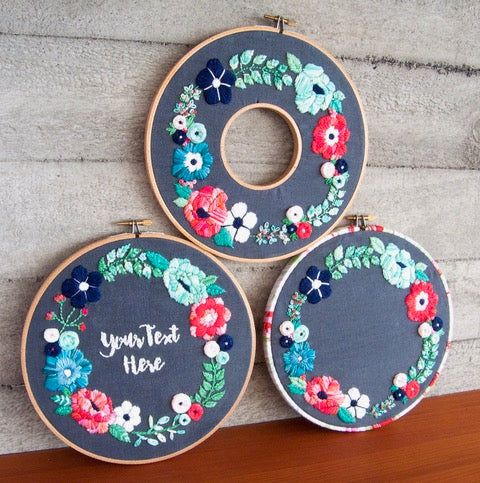 Embroidery Kit - Springtime Wreath