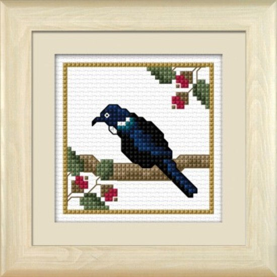 Cross-stitch kit - Tui, the Parsons Bird