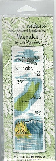 Cross-stitch bookmark - Wanaka