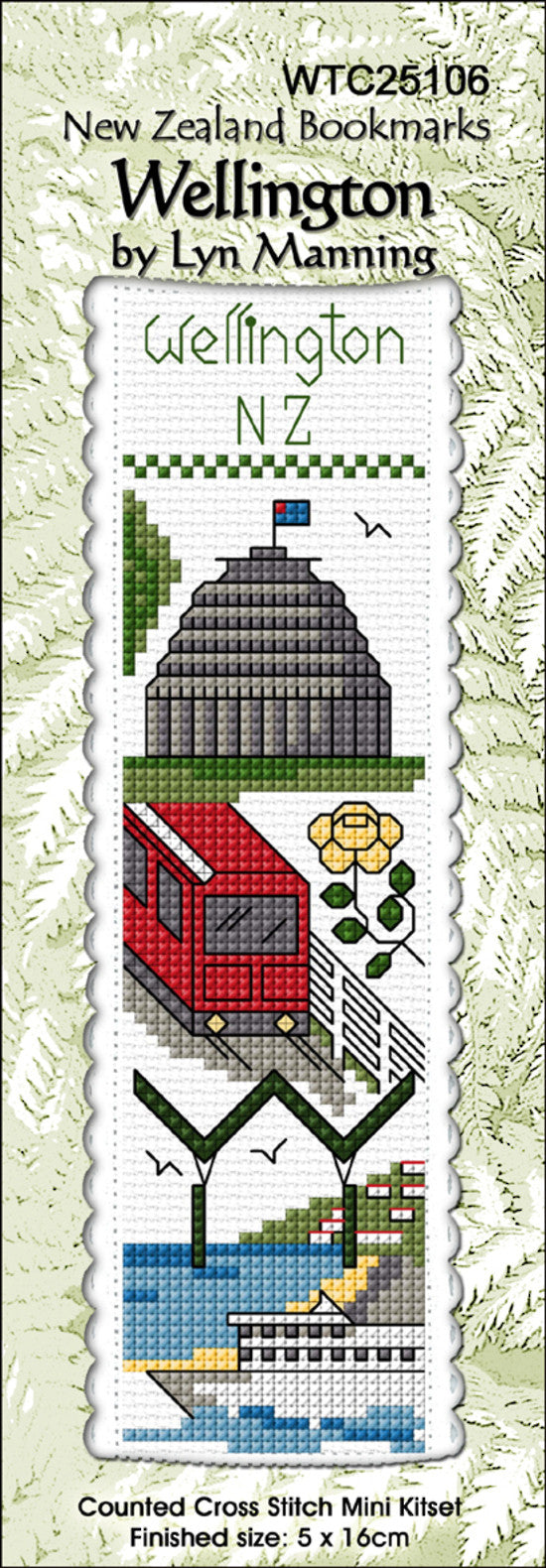 Cross-stitch bookmark - Wellington