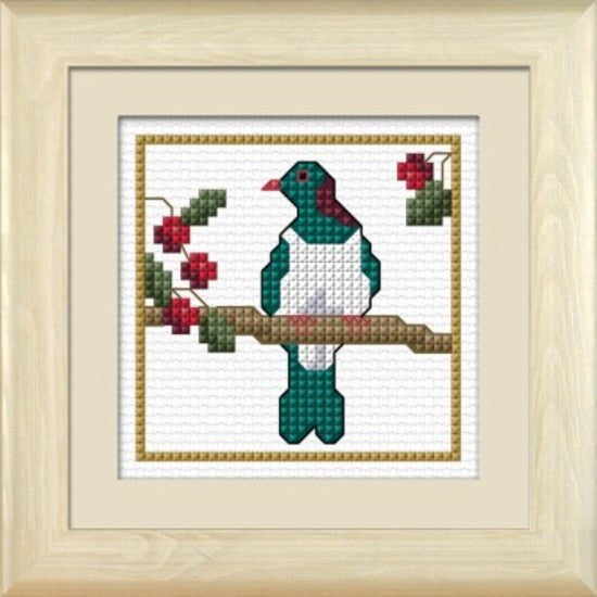 Cross-stitch kit - Kereru, the Wood Pigeon