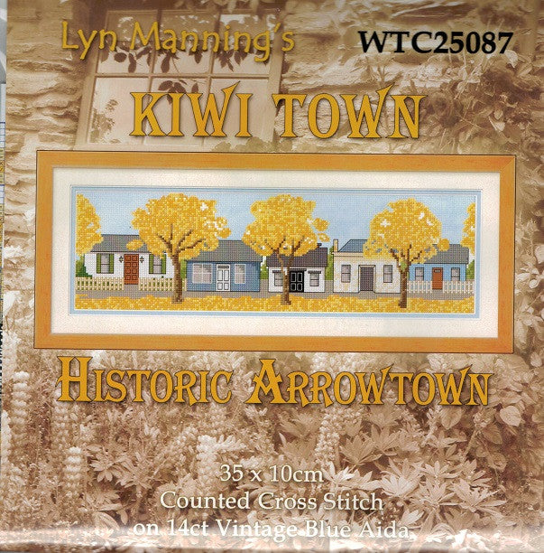 Cross-stitch kit - Kiwi Town Historic Arrowtown