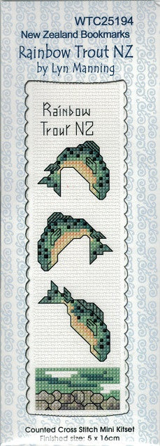 Cross-stitch bookmark - Rainbow Trout