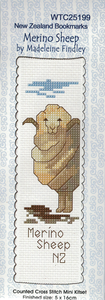Cross-stitch bookmark - Merino Sheep