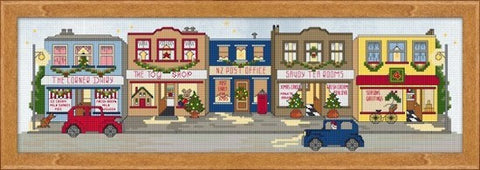 Cross-stitch kit - Christmas Eve in Kiwi Town