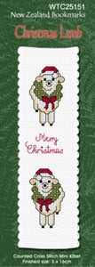 Cross-stitch bookmark - Christmas Lamb