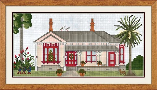 Cross-stitch kit - Christmas at the Villa