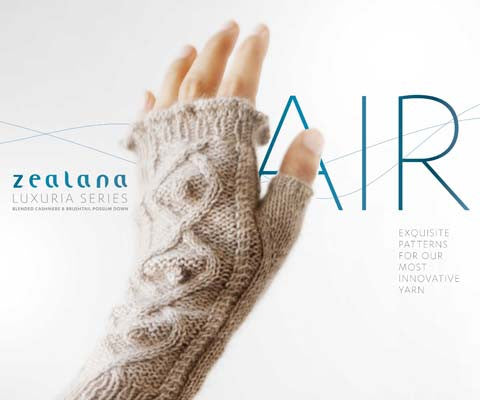 Zealana Air Lace - 8 patterns in Zealana Air Lace Yarn