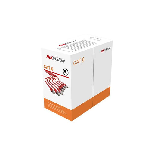 Hikvision 305 m CAT6 UTP Network Cable (Solid Copper, 0.53 mm, CM)