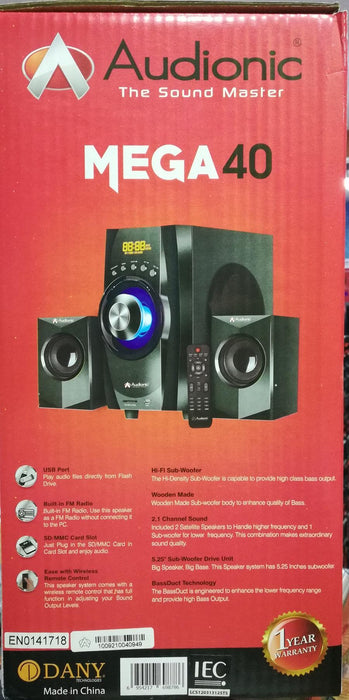 Audionic MEGA 40 Bass Boost Speaker