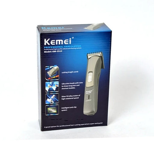 Kemei KM-2512 - Professional Hair Clipper - Silver
