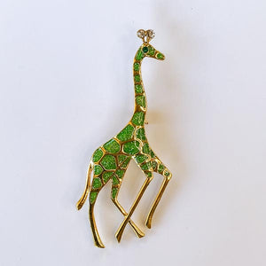 Green & Gold Giraffe (B21)