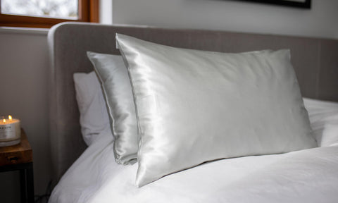 Pure Silk Pillowcase in Ivory