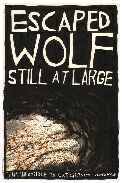 "Escaped Wolf print - 25"" x 37"""