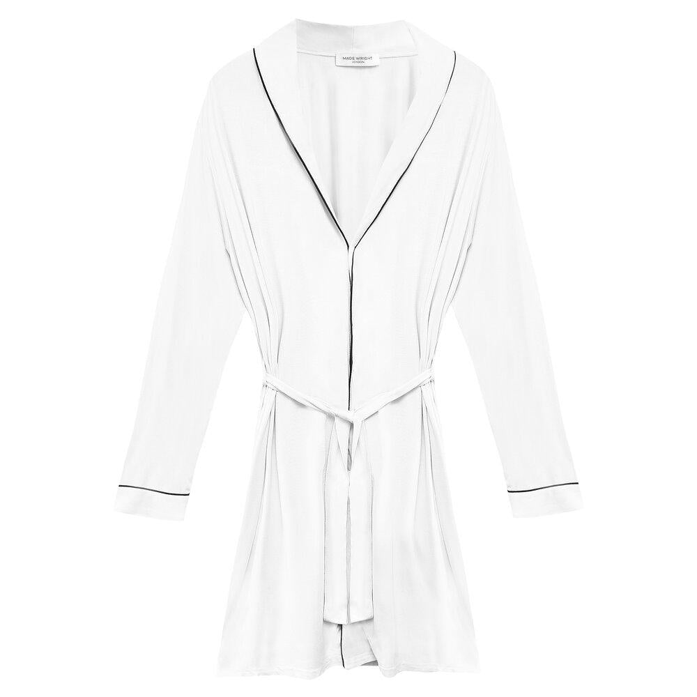 Katherine Bamboo Robe in White