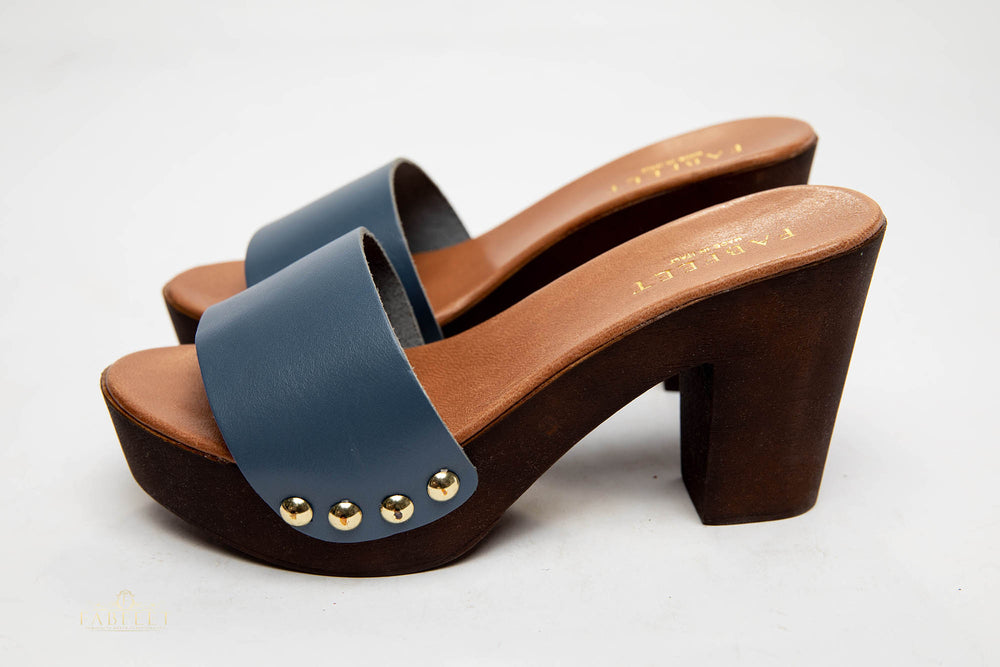 Load image into Gallery viewer, NICOLA LEATHER CLOGS