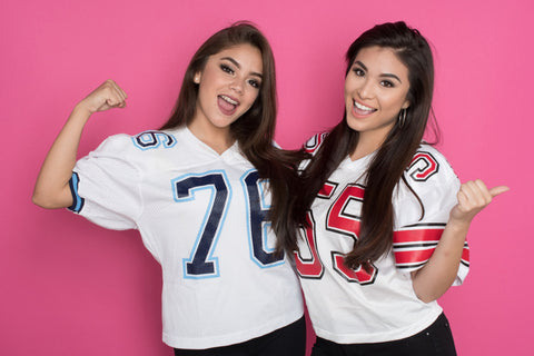 Beautiful DashBabes in Football Jersey